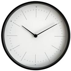 Часы настенные Lacky, белые/ черные фото
