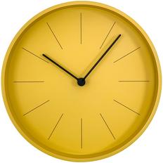 Часы настенные Ozzy, желтые / черные фото