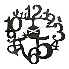 Часы настенные pip, черные фото