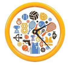Часы настенные PRINT разборные , желтый, D24,5 см, пластик/стекло фото