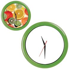 Часы настенные ПРОМО разборные, зеленый яркий, зеленый фото