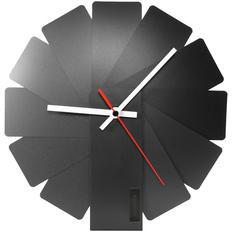 Часы настенные Transformer Clock, черные фото
