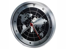 Часы настенные Весь мир, черный, серый фото