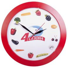 Часы настенные Vivid Large, красные фото