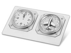 Часы настольные «Часовой пояс», металлик фото
