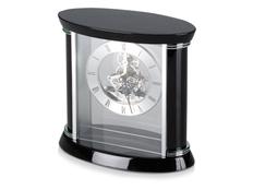 Часы настольные Ковингтон, черные/ хром фото