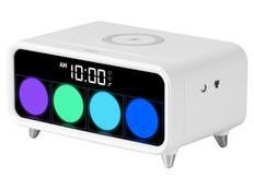 Часы с функцией беспроводной зарядки Rombica Timebox 1, белые фото