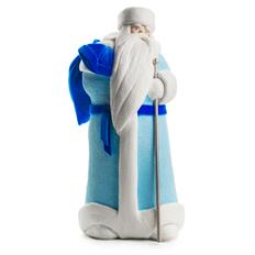 Дед Мороз из ваты большой, голубой / синий фото