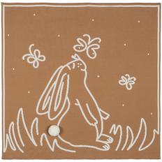 Плед детский Molti Tender Rabbit, коричневый/ белый фото