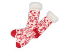 Носки домашние мужские, красные фото