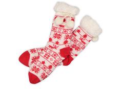 Носки домашние женские, красные фото