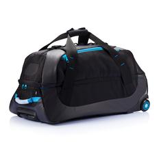 Дорожная сумка на колесах Large adventure, черный, синий фото