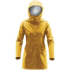 Дождевик на кнопках с капюшоном женский Stormtech Squall, желтый фото
