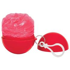 Дождевик в круглом футляре с карабином Promo, красный фото