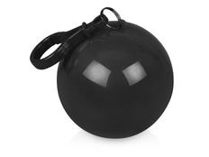 Дождевик унисекс в футляре с карабином Универсал, чёрный / прозрачный фото