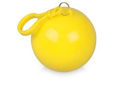 Дождевик унисекс в футляре с карабином Универсал, жёлтый / прозрачный фото