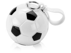 Дождевик в круглом футляре с карабином Футбольный мяч,антрацит / белый фото