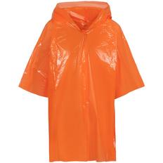 Дождевик-плащ с капюшоном детский унисекс Molti BrightWay Kids, оранжевый фото