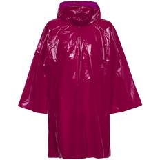 Дождевик-плащ с капюшоном на липучке унисекс Molti CloudTime, бордовый фото