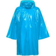 Дождевик-плащ с капюшоном на липучке унисекс Molti CloudTime, голубой фото