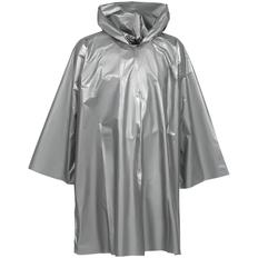 Дождевик-плащ с капюшоном на липучке унисекс Molti CloudTime, серебристый фото