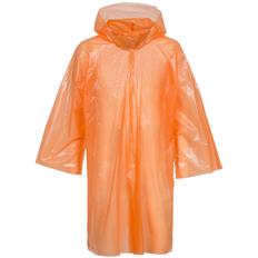 Дождевик-плащ с капюшоном и длинными рукавами унисекс Molti BrightWay, оранжевый фото