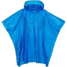 Дождевик-пончо с капюшоном и укороченным рукавом унисекс Molti RainProof, синий фото
