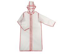 Дождевик с чехлом US Basic Providence, прозрачный / красный фото
