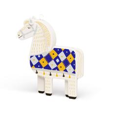 Елочная игрушка «Лошадка» v.2.0 в пенале, разноцветная фото