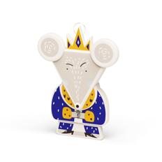 Елочная игрушка «Мышиный король» v.2.0 в пенале, разноцветная фото