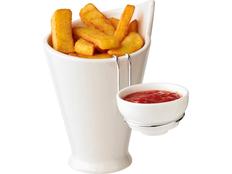 Емкость для картофеля фри и соуса Avenue Chase, белая фото
