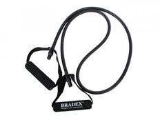 Эспандер трубчатый с ручками, нагрузка до 13.5 кг, латекс, черный фото