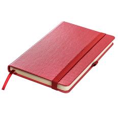 Ежедневник недатированный Enote Barry А5, красный металлик фото