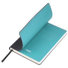 Ежедневник недатированный Portobello Trend Sky, черный / голубой фото