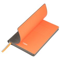 Ежедневник недатированный Portobello Trend Voyage, серый/ оранжевый фото