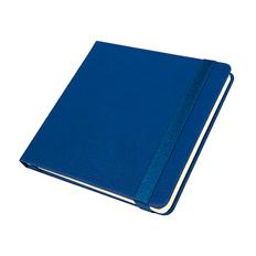 Ежедневник недатированный Quadro, A5, кремовый блок, синий фото