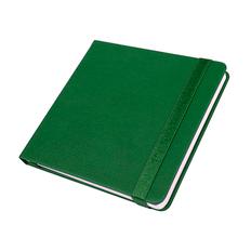 Ежедневник недатированный Quadro, A5, кремовый блок, зеленый фото