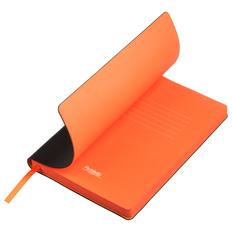 Ежедневник недатированный Portobello Trend Latte, черный/ оранжевый фото