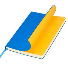 Ежедневник недатированный Portobello Trend Sky, лазурный/ желтый фото