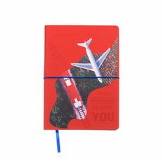 Ежедневник Intero с горизонтальной резинкой-держателем, формат А5 фото