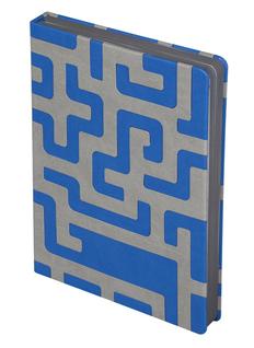 Ежедневник недатированный Inspire Labyrinth, синий фото