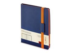 Ежедневникнедатированный Bruno Visconti Leggenda В5, синий / оранжевый фото