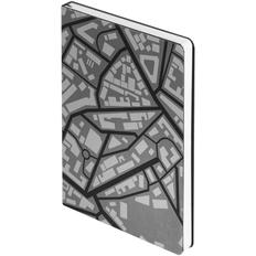 Ежедневник недатированный City А5, черный / серый фото