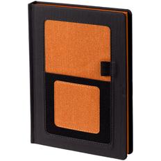 Ежедневник недатированный Контекст Mobile А5, черный / оранжевый фото