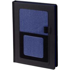 Ежедневник недатированный Контекст Mobile А5, черный / синий фото