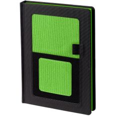 Ежедневник недатированный Контекст Mobile А5, черный / зеленый фото