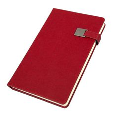 Ежедневник недатированный Linnie, А5, кремовый блок, красный фото