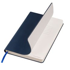 Ежедневник недатированный Portobello Trend Latte Ecoline с антибактериальным покрытием, синий фото