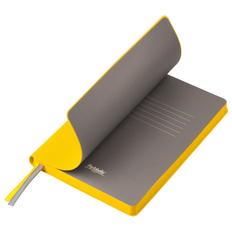 Ежедневник недатированный Portobello Trend Rain, желтый/ серый фото