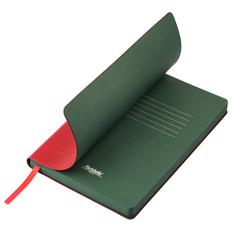 Ежедневник недатированный Portobello Trend River Side, красный / зеленый фото